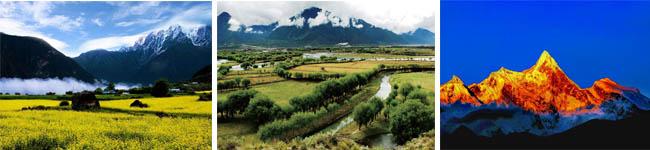 鲁朗、尼洋河、南迦巴瓦峰