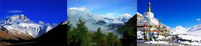 珠峰、嘉措拉雪山、绒布寺