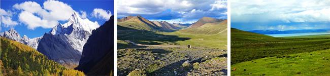 东达山、邦达草原、拉乌山
