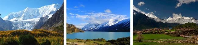米堆冰川、然乌湖、波密